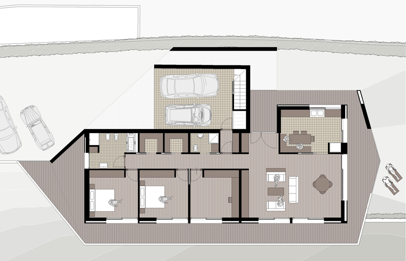 Studioxarchitettura pg 1 for Casa minimalista 4 dormitorios